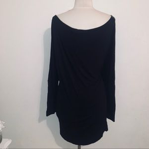 Black ribbed tunic shirt dress 1x forever 21